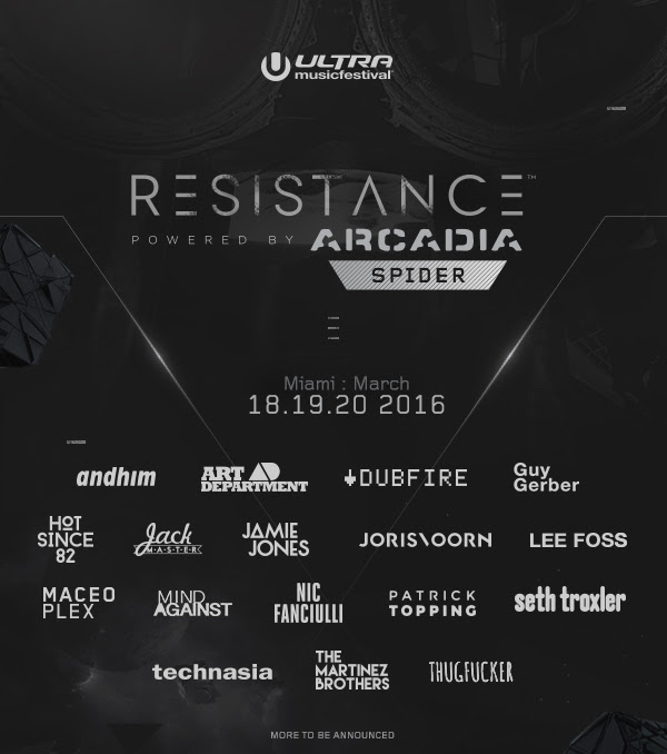ultra 2016 resistance lineup