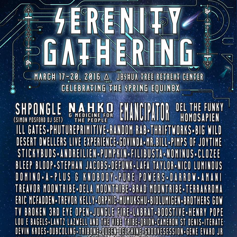 Serenity Lineup