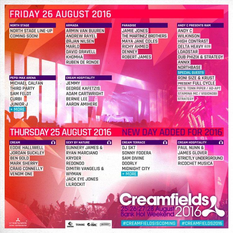 creamfields friday 2016