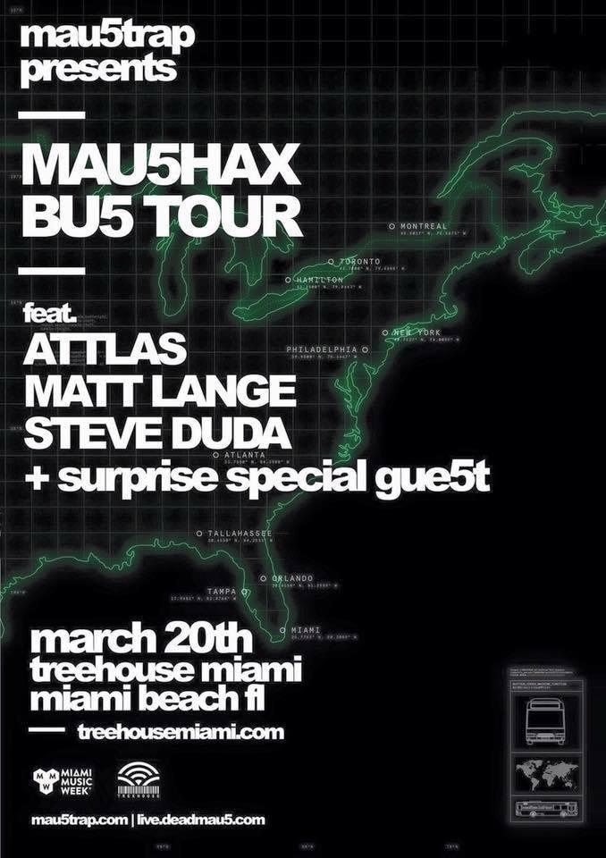 mau5hax bus tour miami