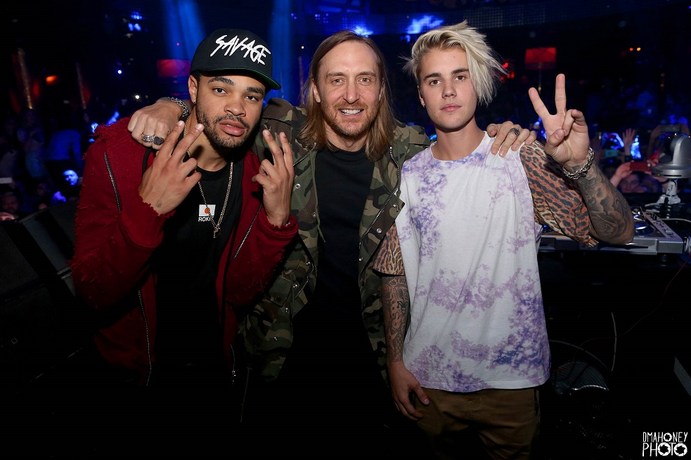Maejor, David Guetta and Justin Bieber at XS 3.25.16 - small