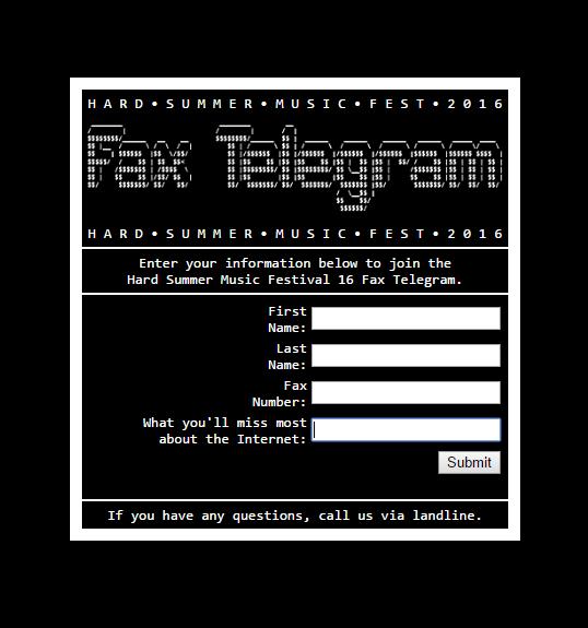 hard summer fax telegram
