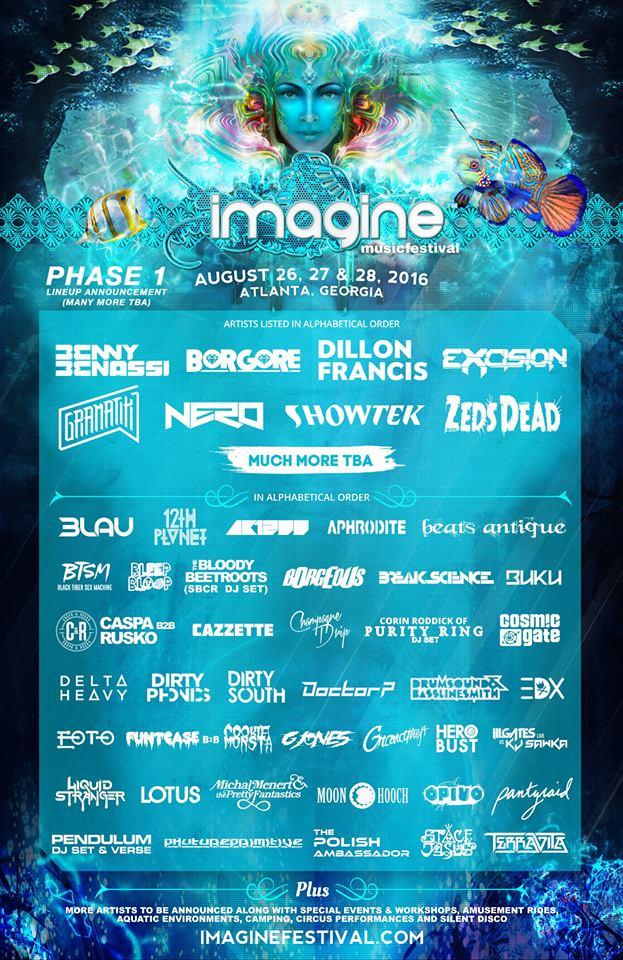imagine festival 2016 lineup
