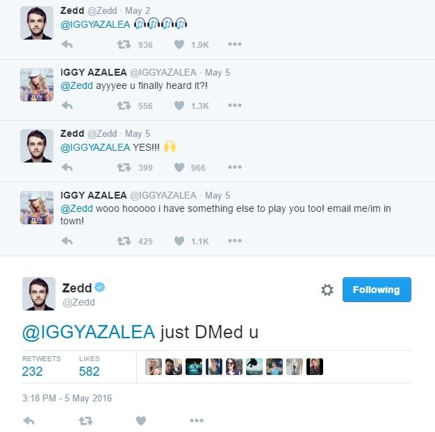 iggy azalea zedd twitter