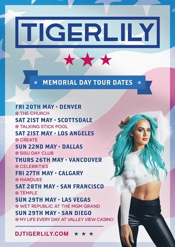 tigerlily tour dates