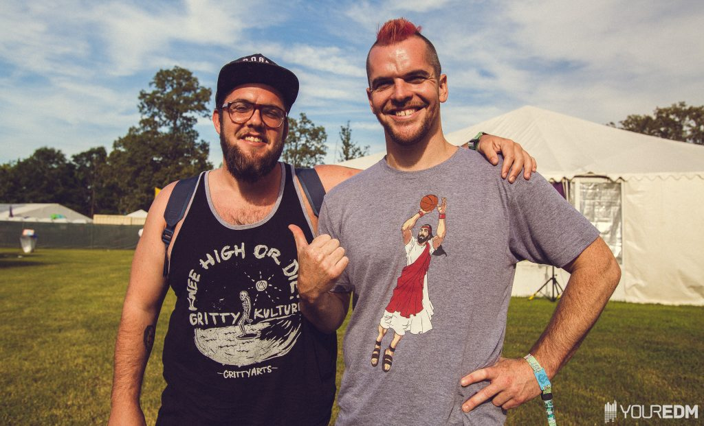 Matt and Mark Hill of The Floozies - Backstage at Bonnaroo 2016 (Photo - Lucas Gregg)
