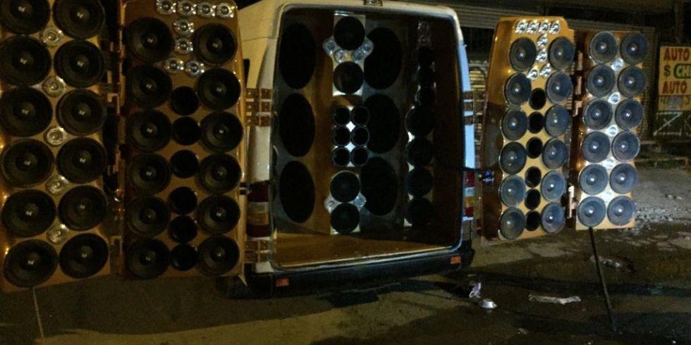 80 speaker van