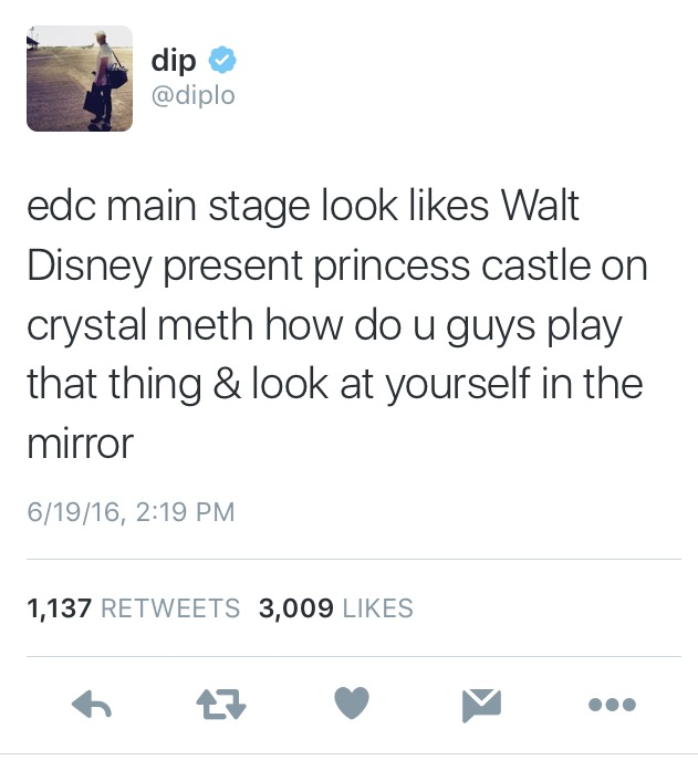 diplo main stage 2016 edc criticism