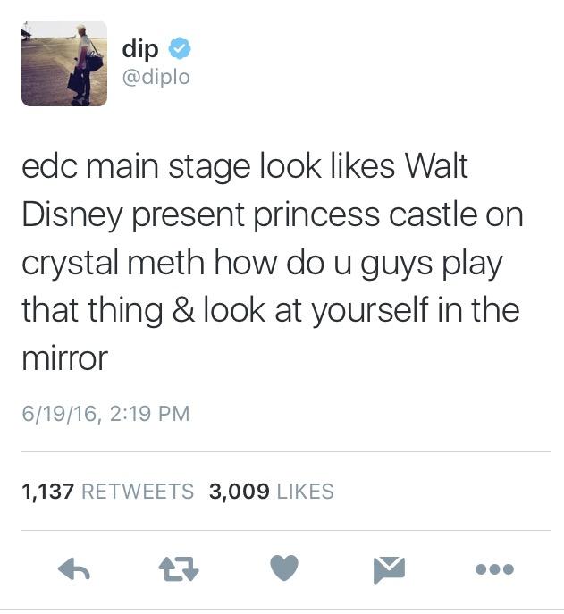 diplo main stage 2016 edc criticism
