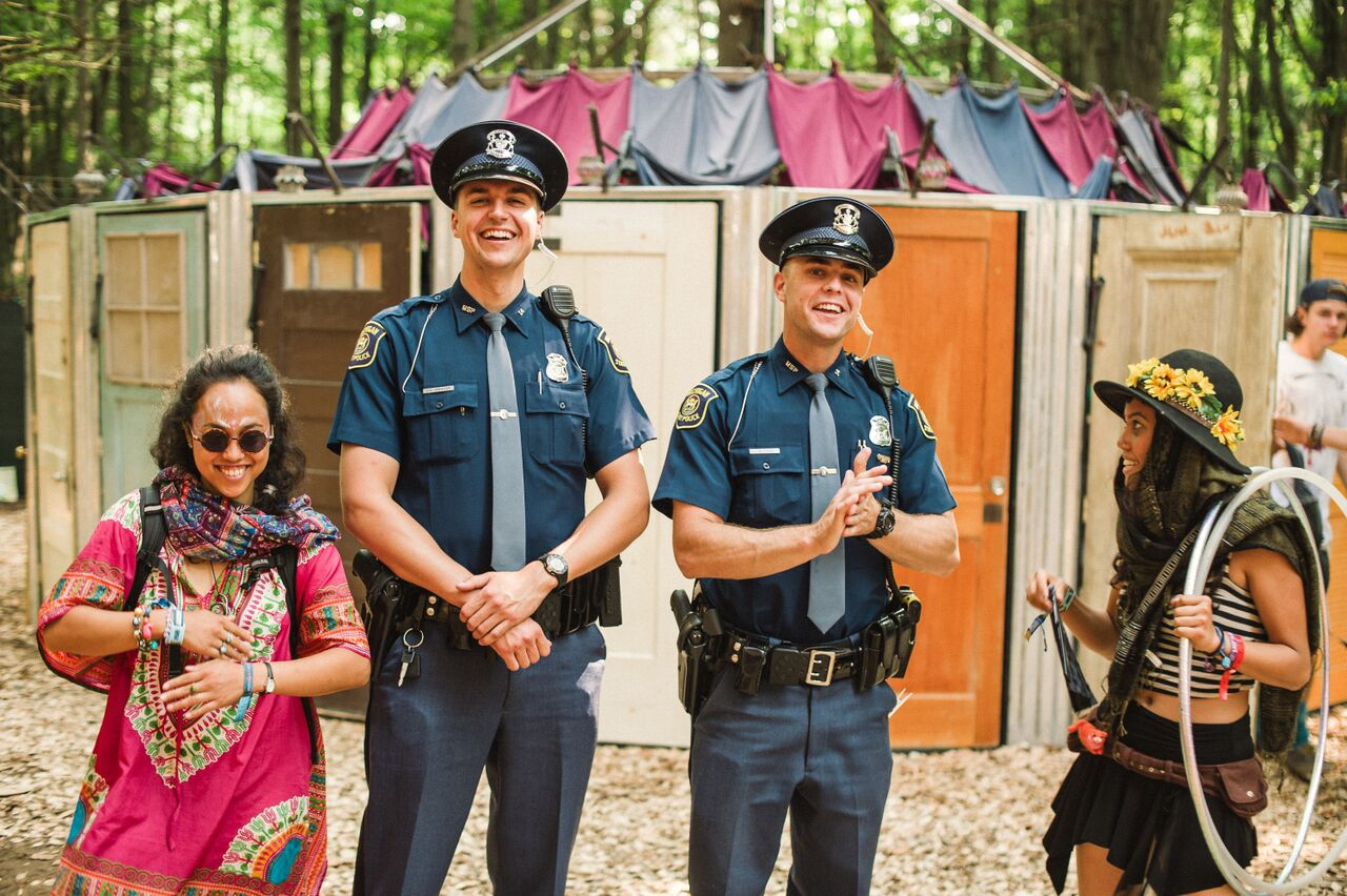 Electric-Forest-police