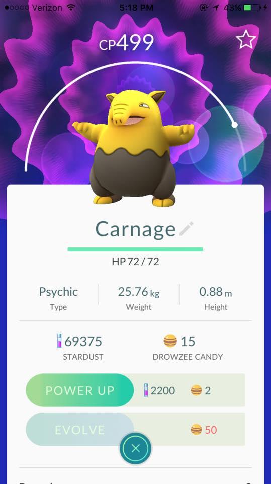 carnage pokemon