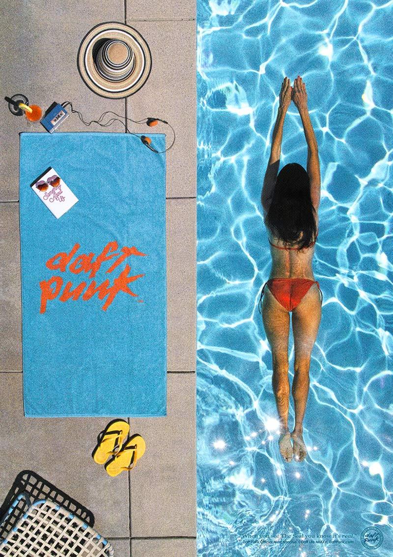 daft punk beach towel