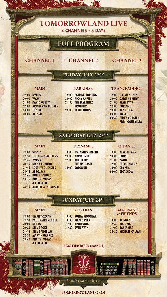 tland 2016 schedule