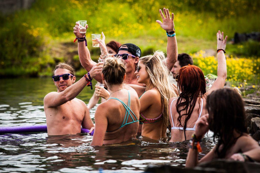 Kerri Chandler Secret Lagoon Party Crowd. Credit Ingelin Berg