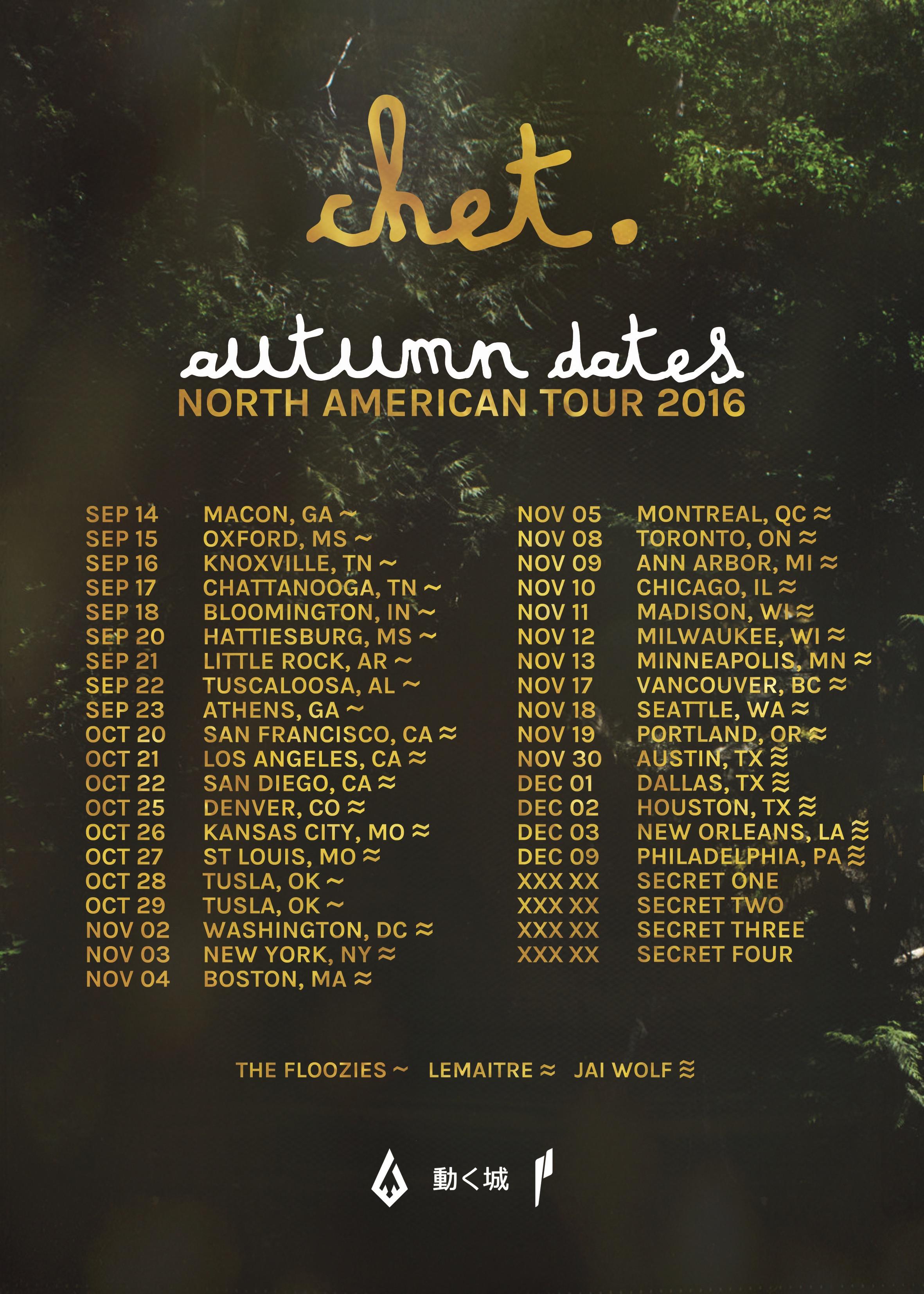 Chet Porter Fall Tour 16