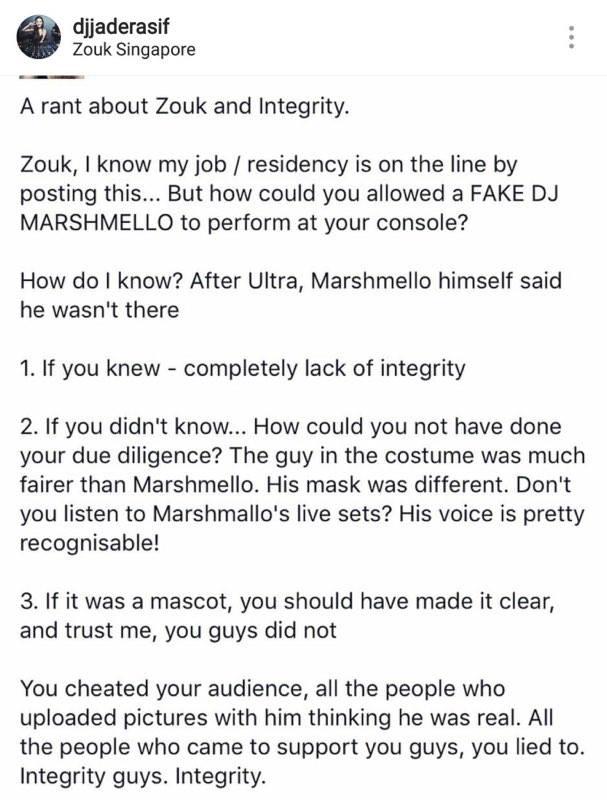 Zouk Fake Marshmello