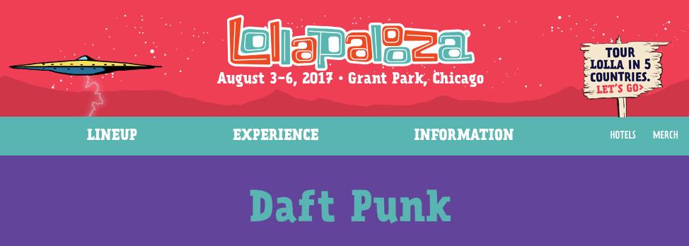 Daft Punk Lollapalooza