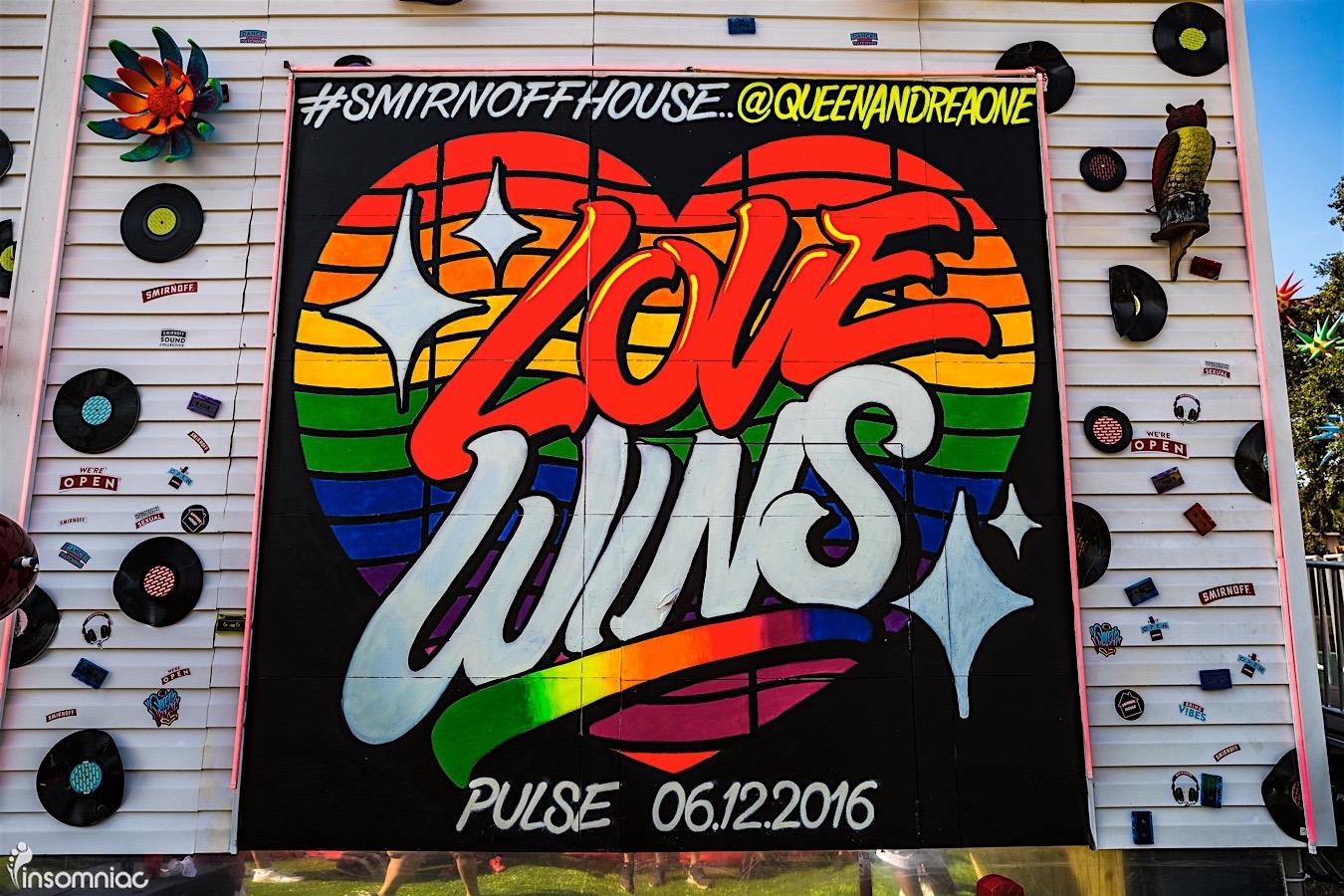 Smirnoff House & Pulse Nightclub Debut #Lovewins Mural At