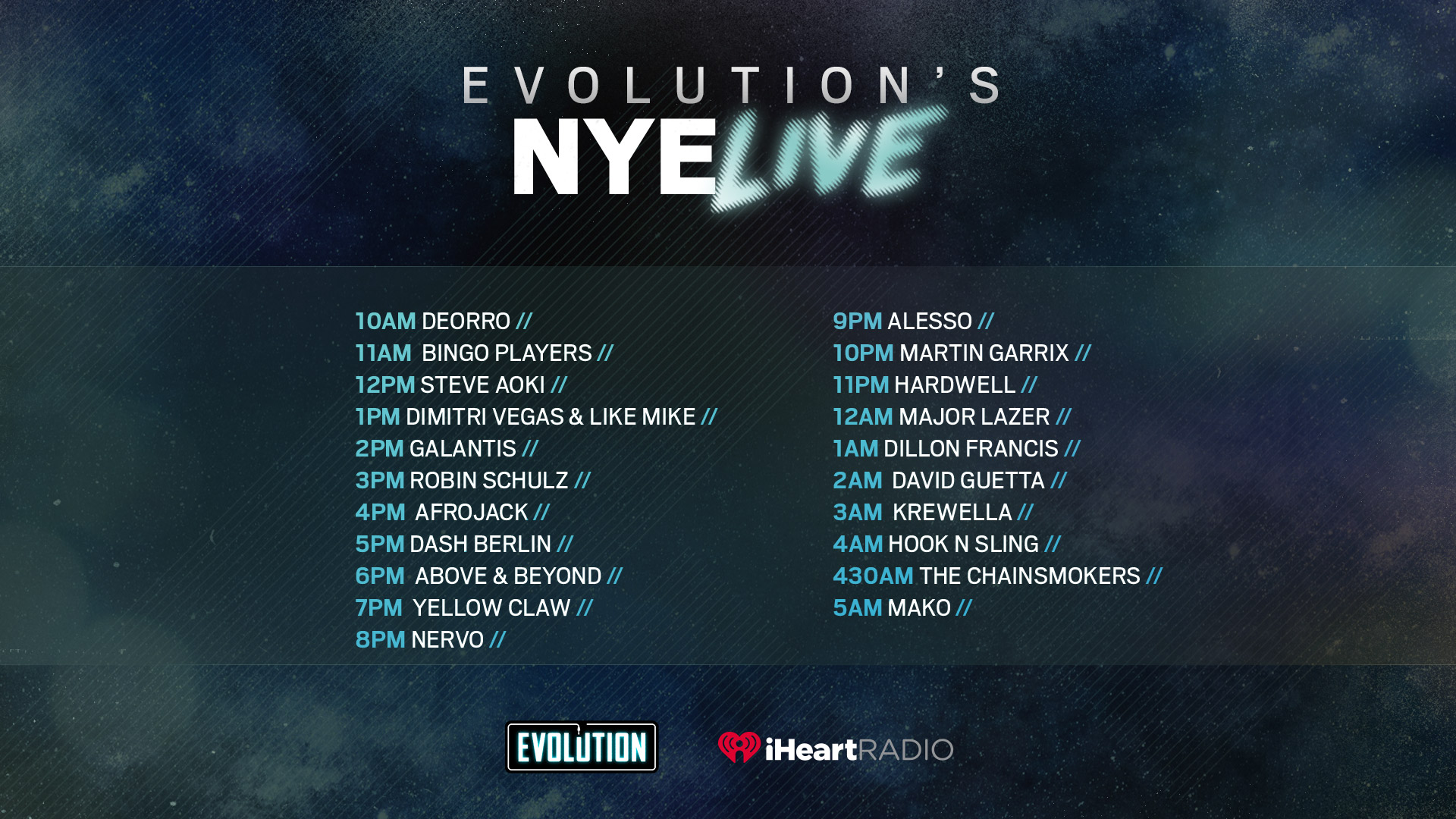iHeartRadio Will Host 21 Exclusive Mixes For New Year's Eve | Your EDM
