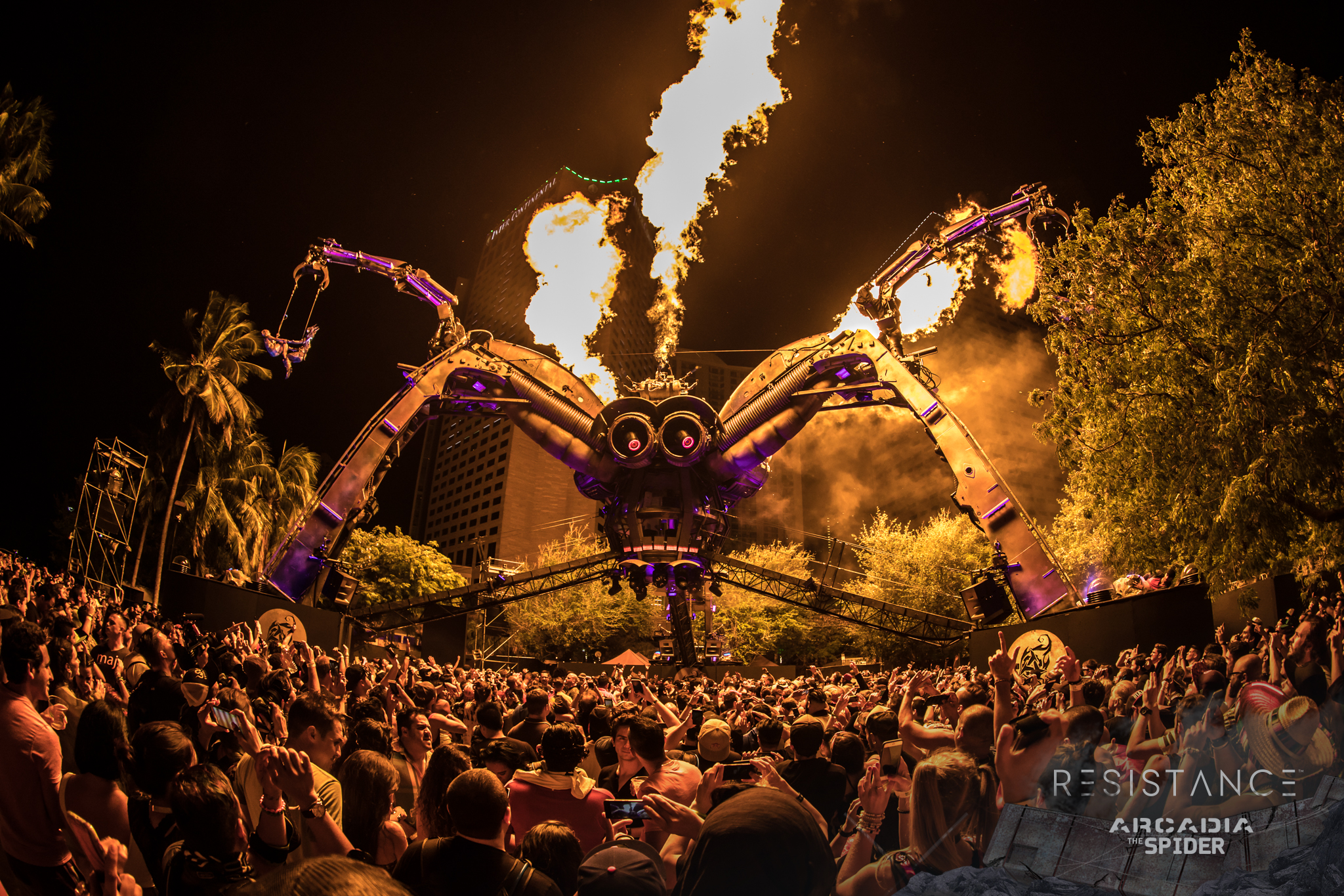 watch the resistance arcadia spider live stream from ultra music