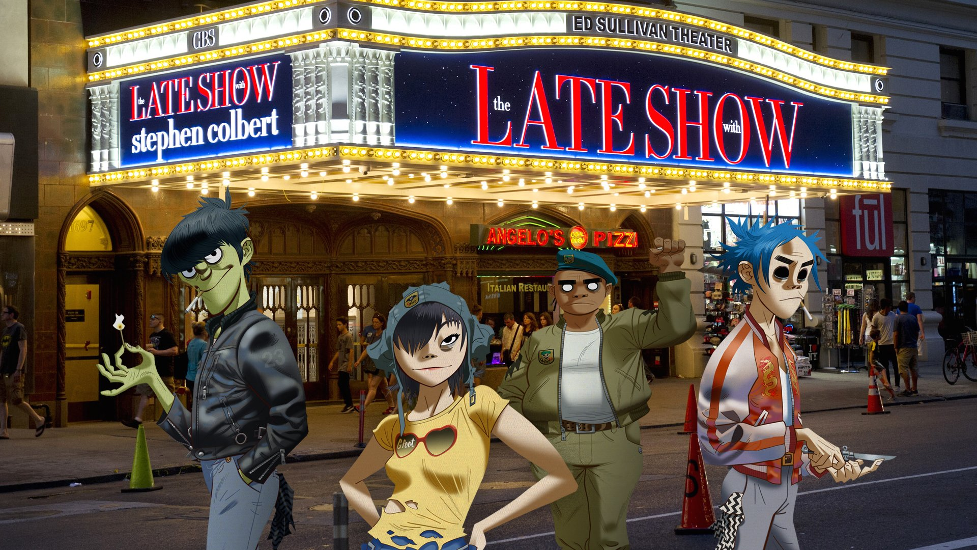 Stephen Colbert Raps Like A Pro With Gorillaz For Epic Late Show