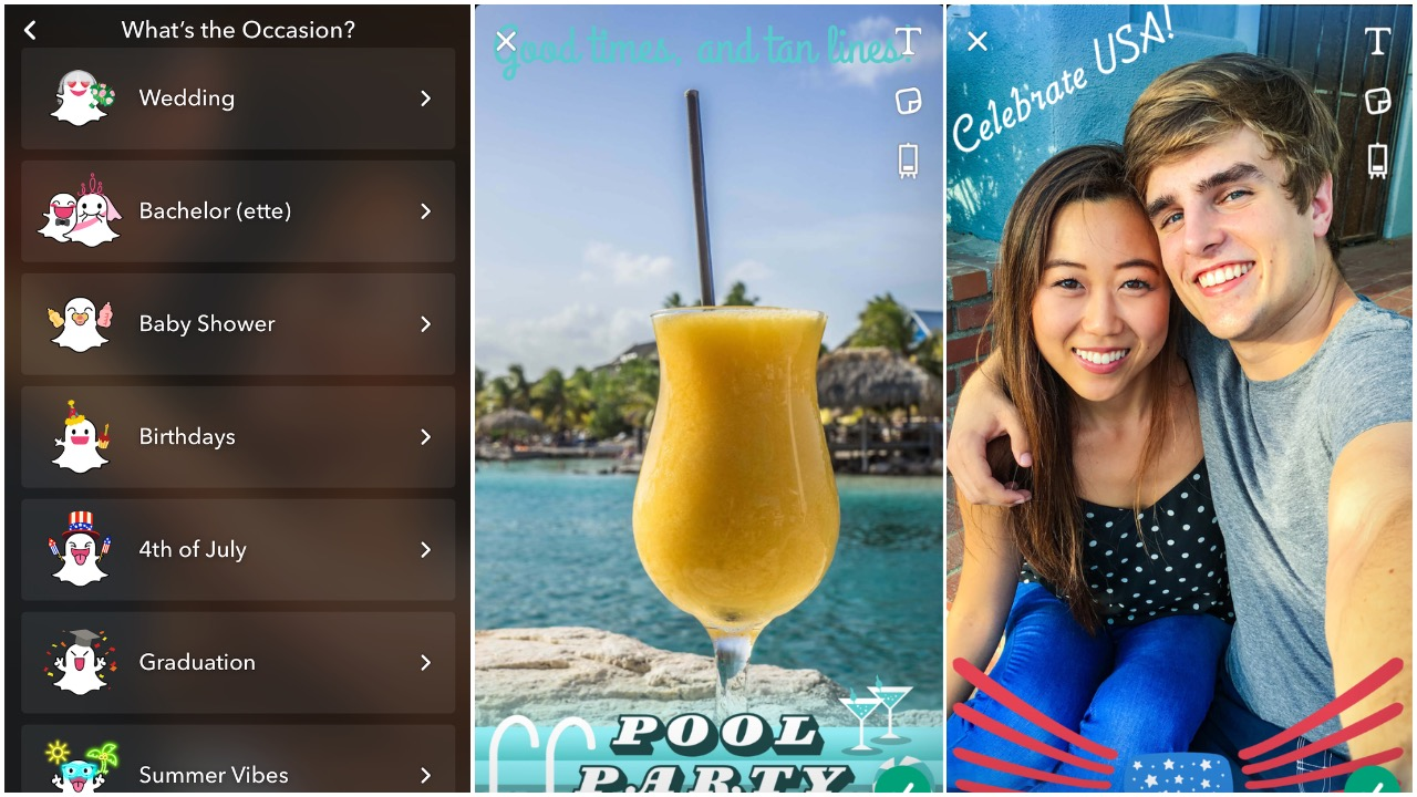 Snapchat Offers On-Demand Geofilters Perfect for Customizing