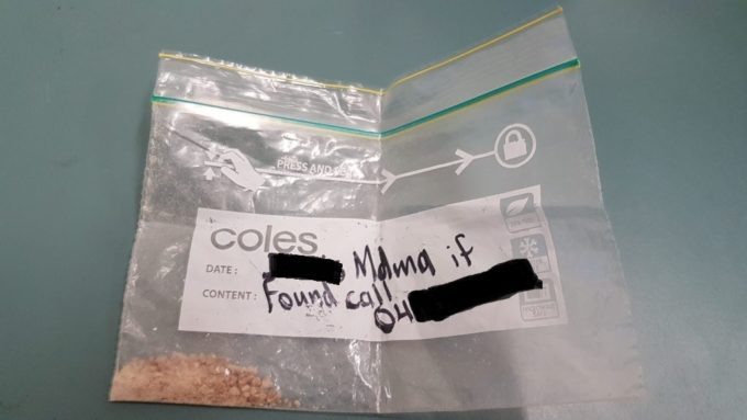 Festival-goer found with bag of drugs labelled with name and number