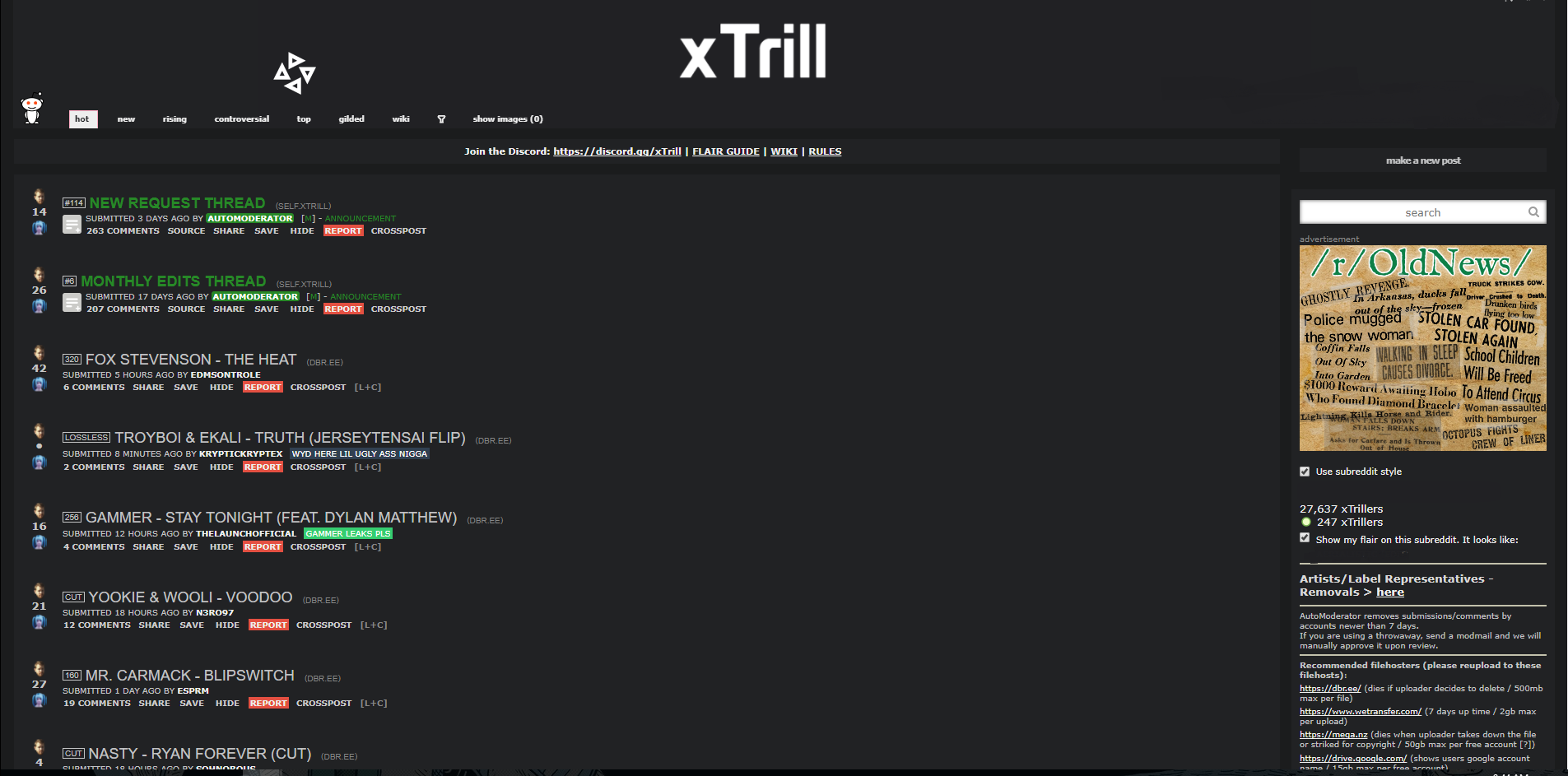 Producer Begins Petition To Shut Down Reddit Community xTrill | Your EDM