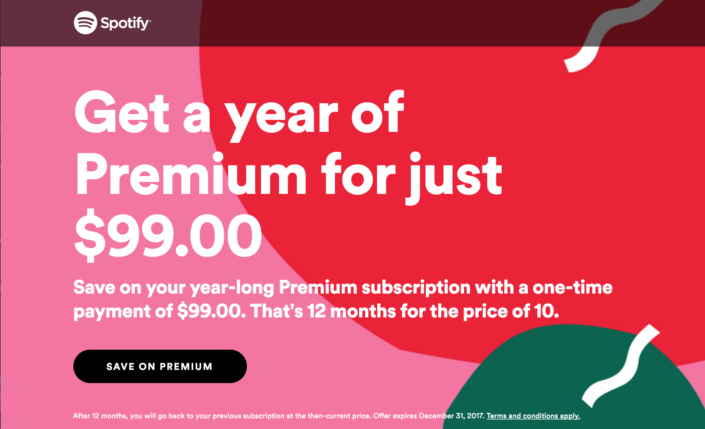 Miss Groove? Grab Spotify Premium for only $99 for a whole year