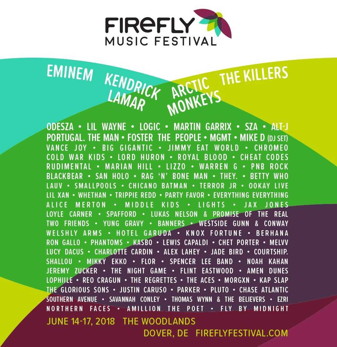 Firefly Music Festival Just Dropped One  the Best Lineups  2018