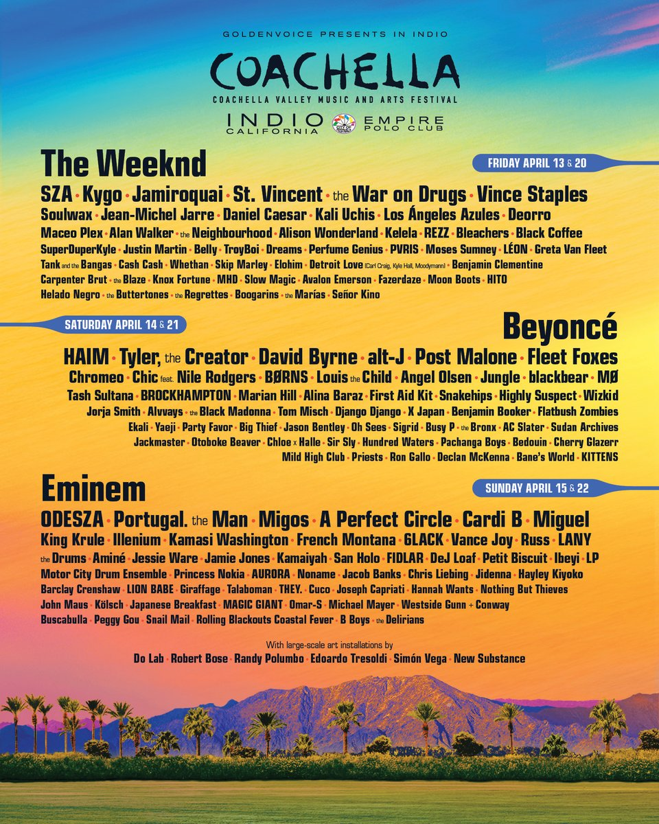 Breaking Down The EDM On Coachella's 2018 Lineup