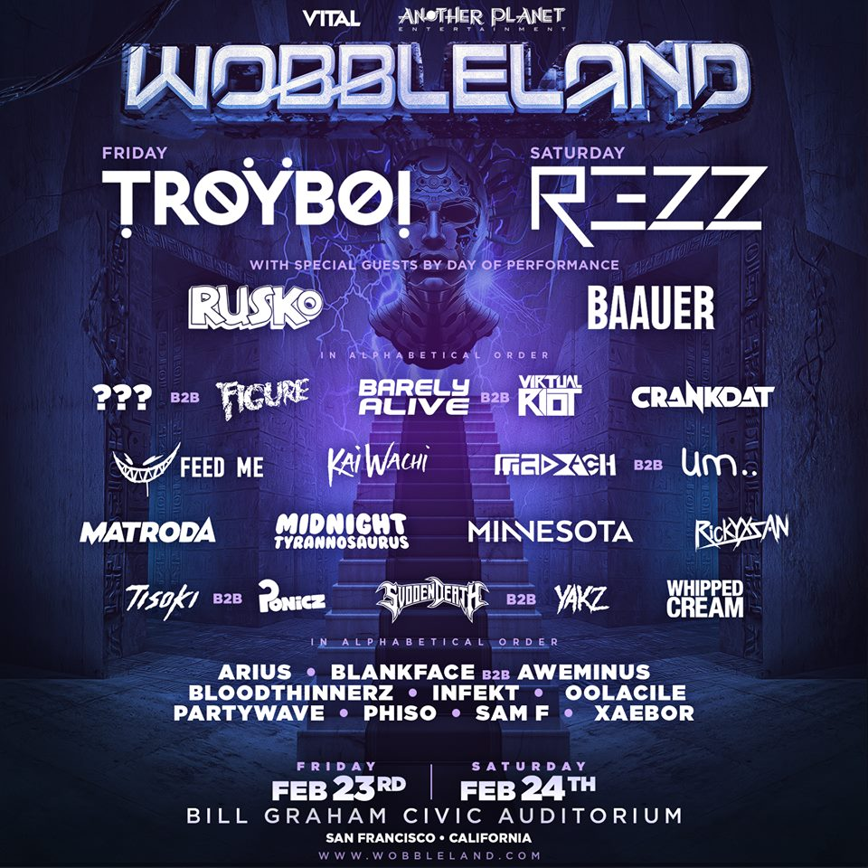 Wobbleland 2018 Drops Phase 2 Lineup With Troyboi, Baauer, And More