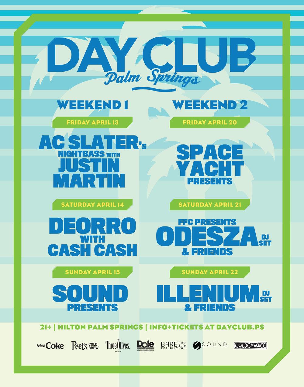 ODESZA, Illenium, Deorro & More to Headline Day Club Parties During Coachella