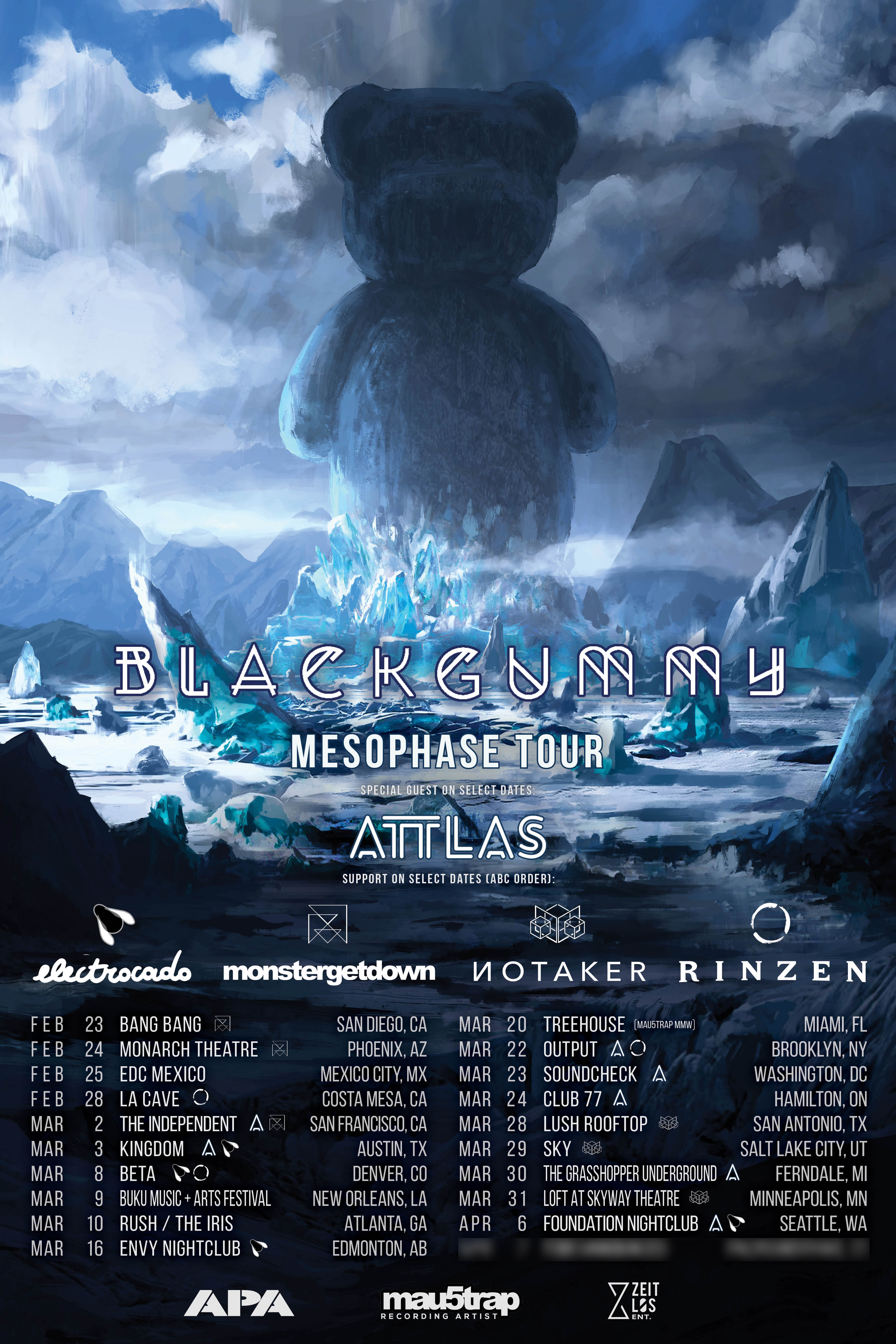 BlackGummy Embarks On Mesophase Tour With ATTLAS