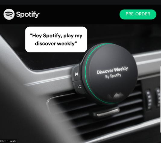 Spotify hardware screenshot