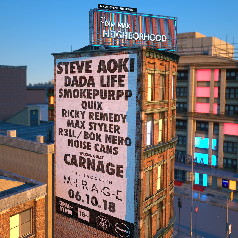 Dada Life & Smokepurpp set to join Steve Aoki, Carnage for Dim Mak Neighborhood in Brooklyn, New York