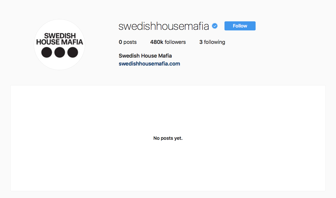 Swedish House Mafia Instagram