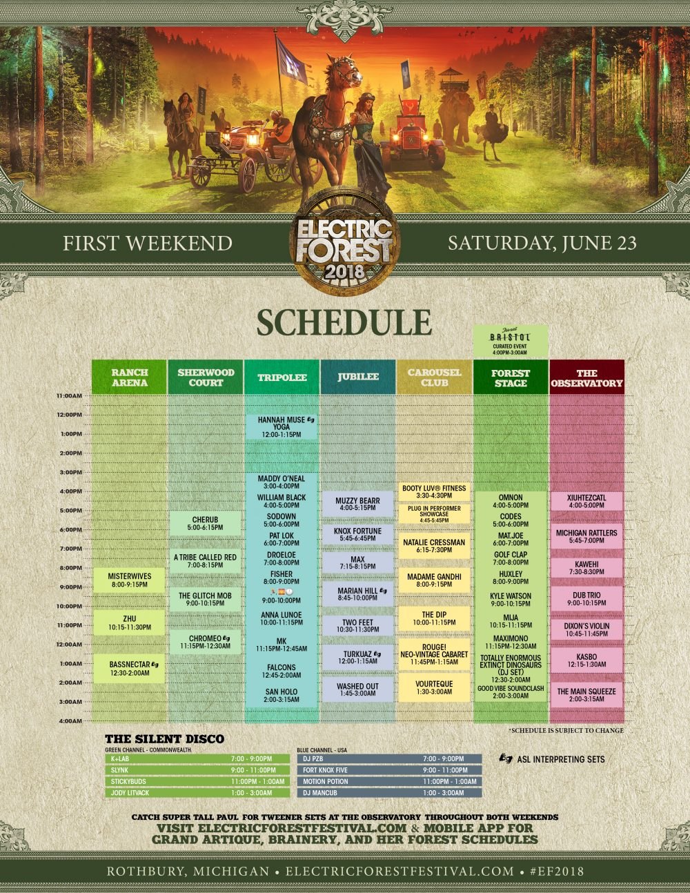 Electric Forest 2018 Weekend 1