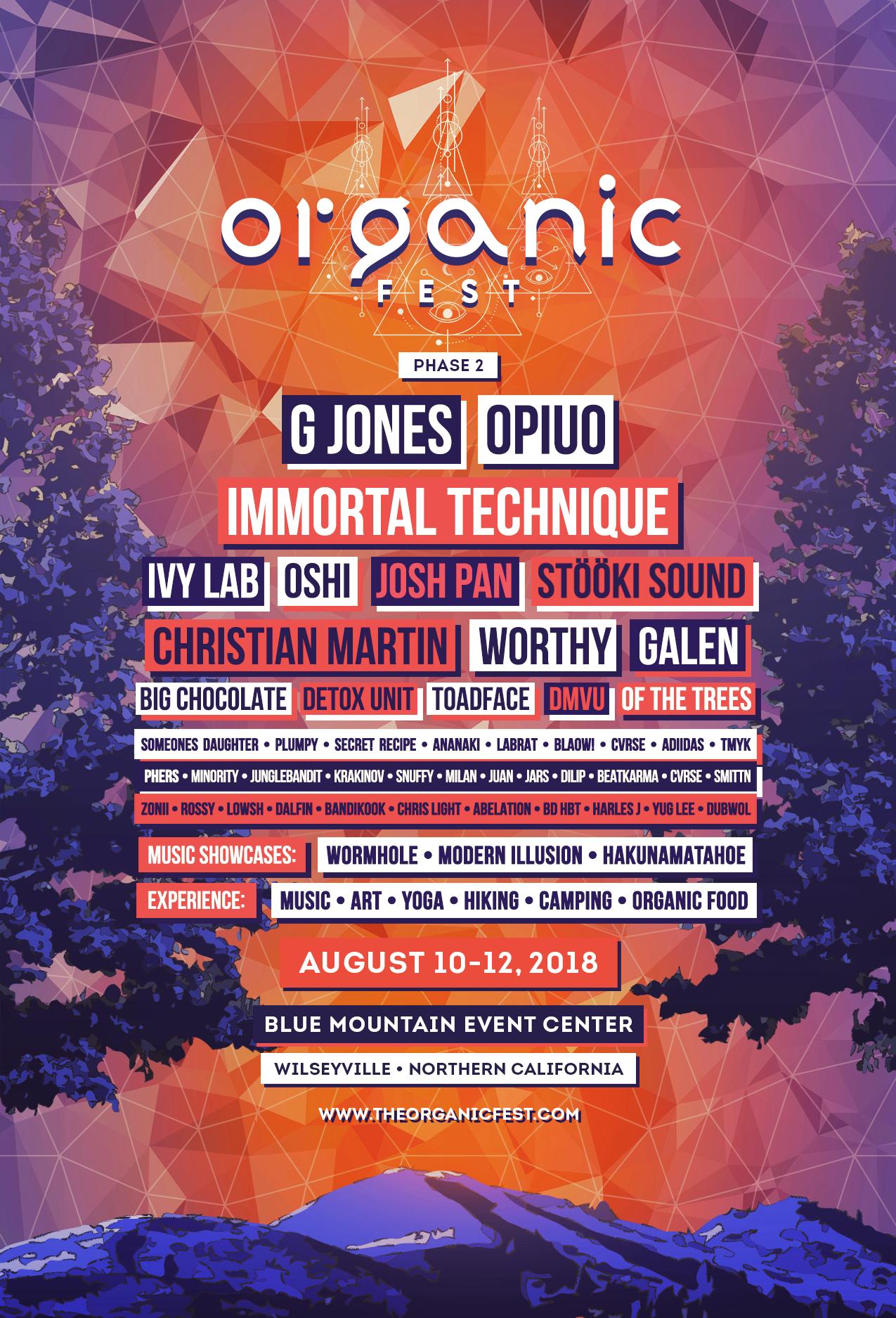 Organic Fest Adds G Jones As Its Final Headliner For 2018