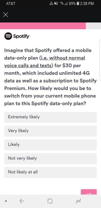 Spotify data plan