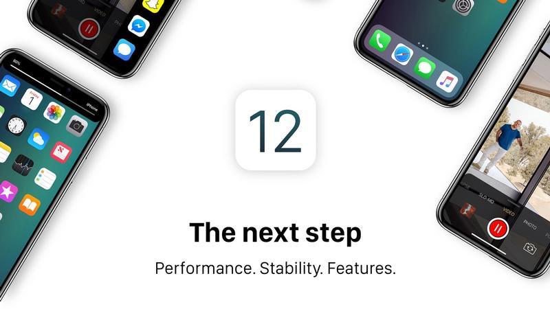 Apple iOS 12 promo image