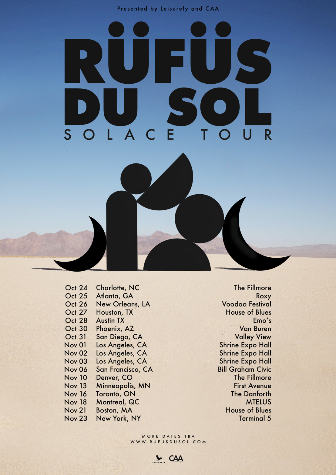 "RÜFÜS DU SOL Announce ""Solace"" Fall Tour In Support Of Forthcoming Album"