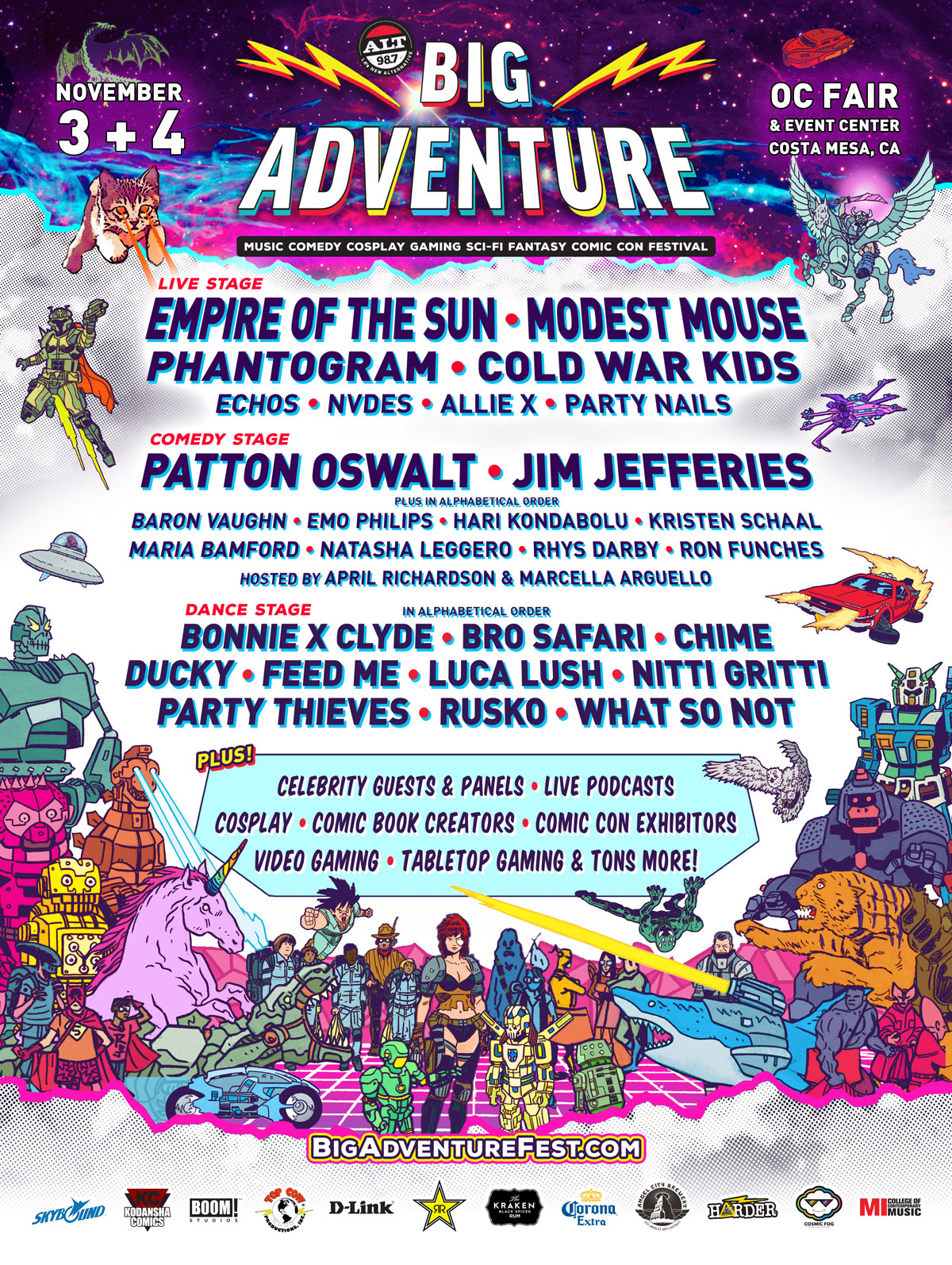 Ready for Big Adventure? It's A Music Festival + Comic Con All In One