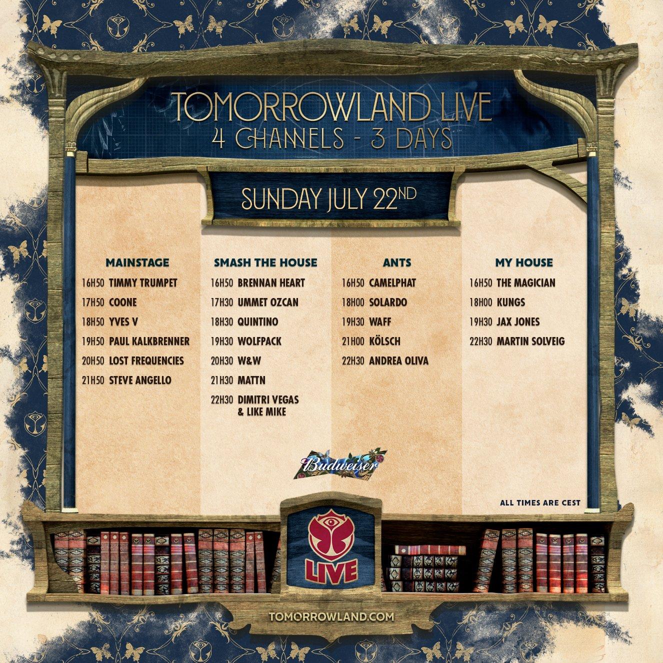 Tomorrowland Live Stream 2018 - Day 3