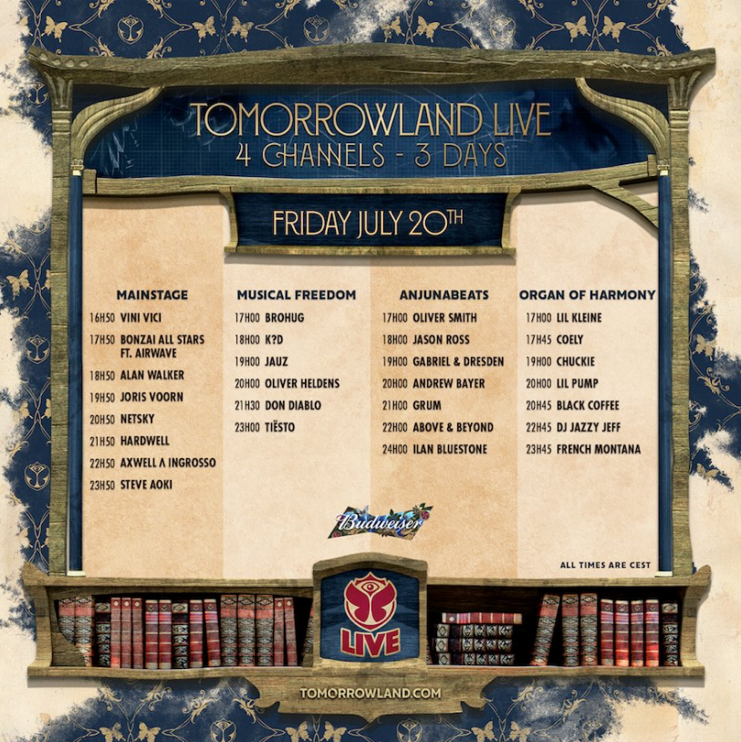 Tomorrowland 2018 live stream - Friday