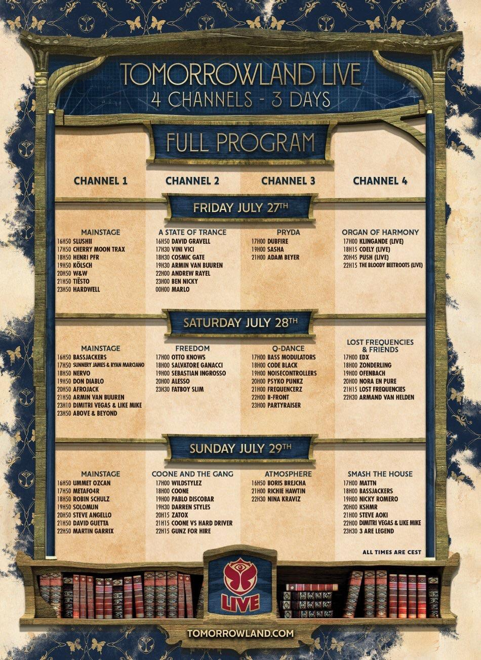 Tomorrowland Live Stream Weekend 2