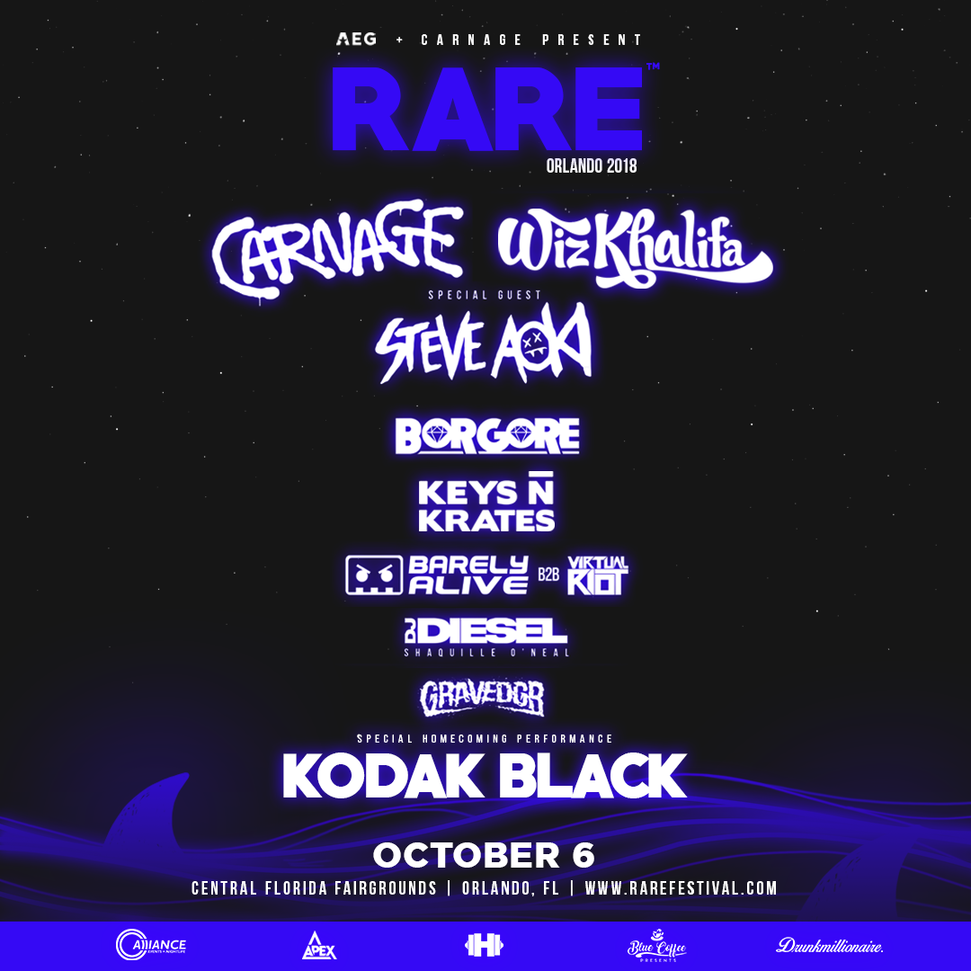 carnage drops full lineup for rare orlando your edm carnage drops full lineup for rare