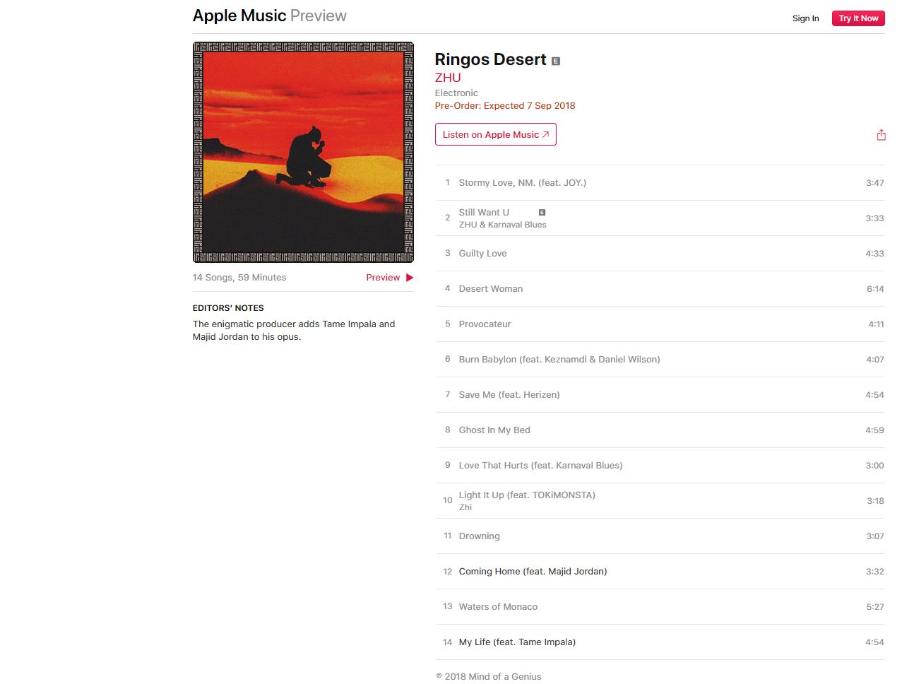 ZHU Reveals Release Date For New Album 'Ringos Desert'