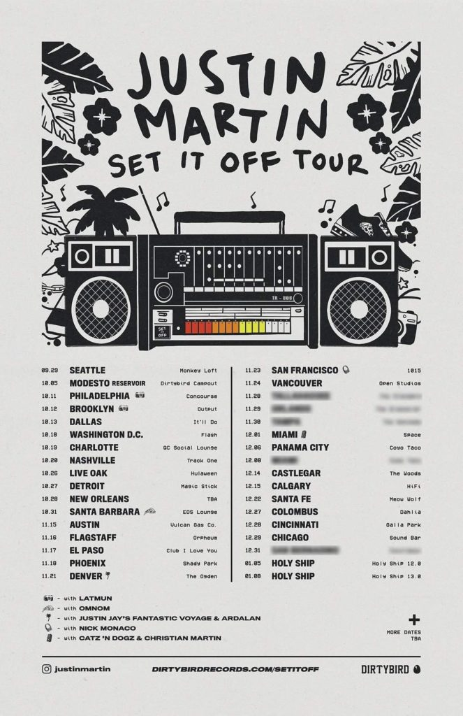 Justin Martin Announces his New EP and North American Tour, 'Set It Off'