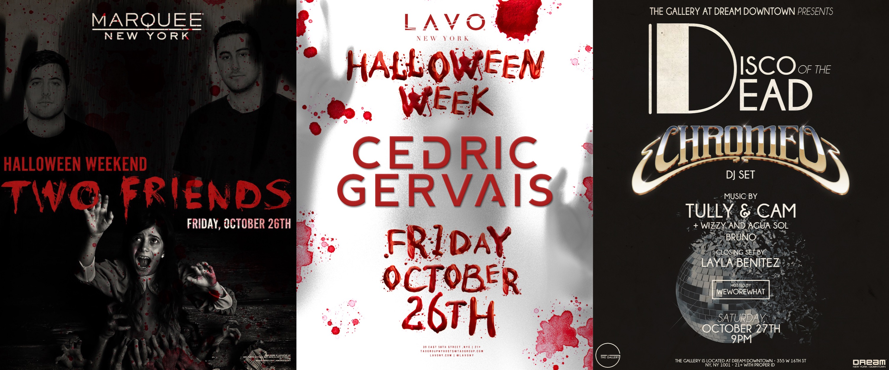 win tickets to two friends, cedric gervais or chromeo this halloween